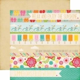 """Paper """"Summer days - Summer Bliss"""", 30,5x30,5 cm"""