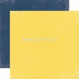 "Popierius ""Yellow / Navy - Splendid Sunshine"", 30,5x30,5 cm"