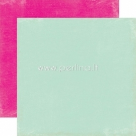 "Popierius ""Lt.Blue / Hot Pink - Splendid Sunshine"", 30,5x30,5 cm"