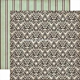 "Popierius ""Black Damask - Times&Seasons 2"", 30,5x30,5 cm"