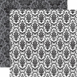 "Popierius ""Onyx Damask - Style Essentials"", 30,5x30,5 cm"