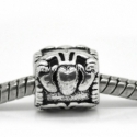 "Pandora karoliukas ""Krabas"", ant.sidabro sp., 10x10 mm"