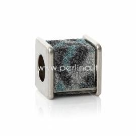 Pandora karoliukas, CCB plastikas, 12x12 mm