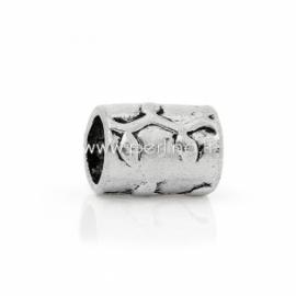 Intarpas - karoliukas, ant.sidabro sp., 15x12 mm, 1 vnt.
