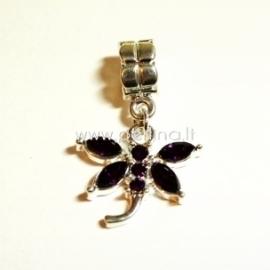 """Pandora pakabukas """"Laumžirgis"""", tamsiai violetinės sp., 31x20 mm"""