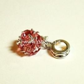 """Pandora pakabukas """"Kamuolukas"""", rožinės sp., 26x10 mm"""