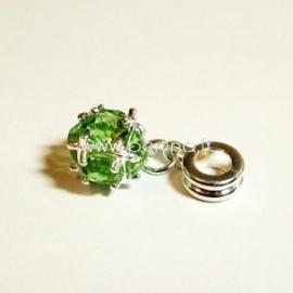 """Pandora pakabukas """"Kamuolukas"""", žalios sp., 26x10 mm"""