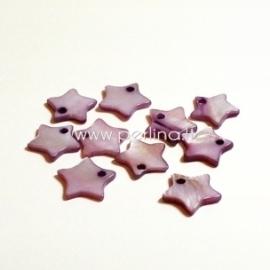 """Kriauklės pakabukas """"Žvaigždė"""", alyvinės sp., 12x12 mm"""