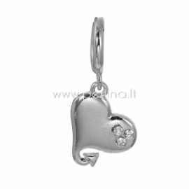 """Aksesuaras apyrankei """"Širdis"""", sidabro sp., 31x11 mm"""