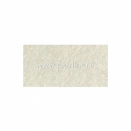 "Sintetinis veltinis su blizgučiu ""White"", 22,9x30,5 cm"