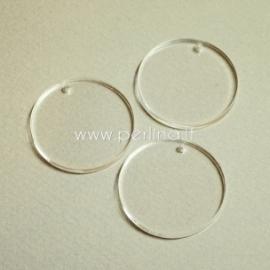 """Org. stiklo detalė-pakabukas """"Pilnatis"""", skaidrus, 2,1 cm"""
