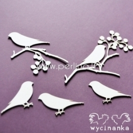 "Chipboard ""Birds Paradise - bullfinch"", 5 pc"