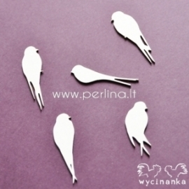 "Chipboard ""Birds Paradise - swallows"", 5 pc"