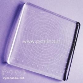 Akrilinis pagrindas spaudui, 12x12x1 cm