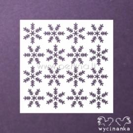 """Plastikinis trafaretas """"Gruodžio dienoraštis - snaigės"""", 14,5x14,5 cm."""