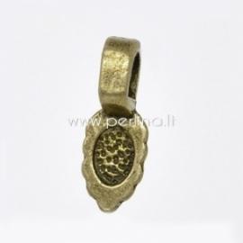 Laikiklis, klijuojamas, ant. bronzos sp., 15,7x5,9 mm