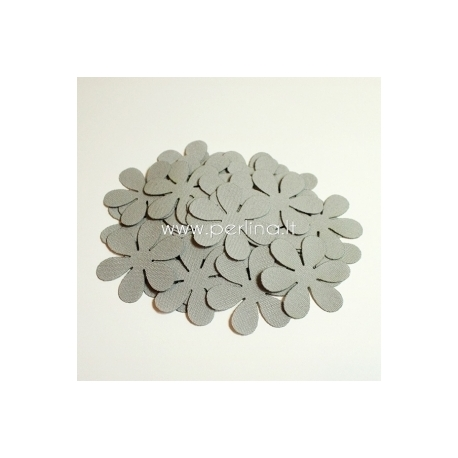 Fabric flower, light grey, 1 pc, select size