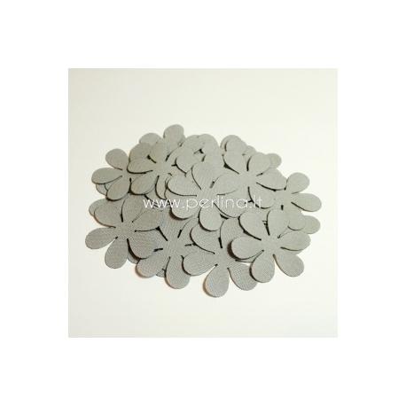 Medžiaginė gėlytė, šviesi pilka sp., 1 vnt., dydis pasirenkamas