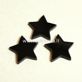 """Org. stiklo detalė-pakabukas """"Žvaigždė smaili"""", juodos sp., 2,2x2,2 cm"""