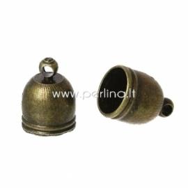 Užbaigimo antgalis su kilpele, ant. bronzos sp., 14x10 mm, 1 vnt.