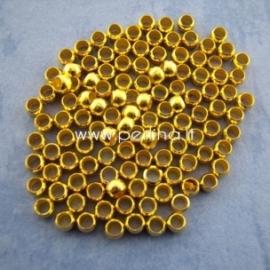Spaustukai, apvalūs, aukso sp., 3 mm, 50 vnt