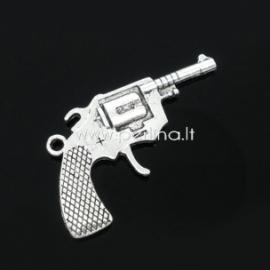 """Pakabukas """"Ginklas"""", ant.sidabro sp., 40x26 mm"""