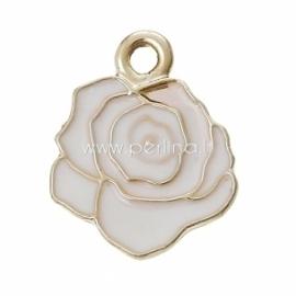 """Pakabukas """"Gėlė"""", šv.aukso sp., 18x14 mm"""