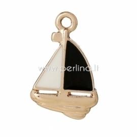 """Pakabukas """"Laivelis"""", šv.aukso sp., 20x13 mm"""