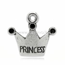 """Pakabukas """"Princess"""", ant.sidabro sp., 19x17 mm"""