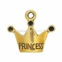 """Pakabukas """"Princess"""", ant.aukso sp., 19x17 mm"""