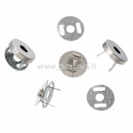 Magnetinis užsegimas, sidabro sp., 14 mm