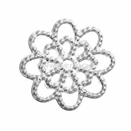 Ažūrinė plokštelė, sidabro sp., 14x14 mm