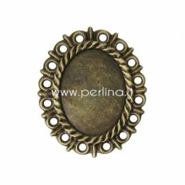 Ažūrinė plokštelė, ant. bronzos sp., 37x31 mm