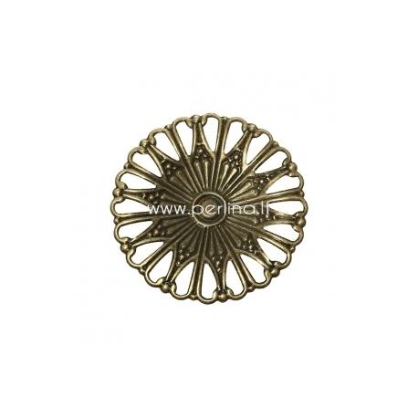Ažūrinė plokštelė, ant. bronzos sp., 49 mm