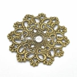 Ažūrinė plokštelė, ant. bronzos sp., 47x47 mm