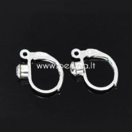 Kabliukai auskarams, pasidabruoti, 16x12 mm, 1 pora