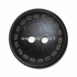 Wood button, dark coffee, 20 mm