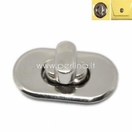 Užsukamas užsegimas, sidabro sp., 28x37 mm