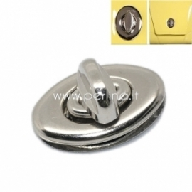 Užsukamas užsegimas, sidabro sp., 35x33 mm
