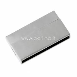 Užsegimas magnetinis, sidabro sp., 43x24 mm