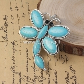 """Pendant """"Dragonfly"""", antique silver, 87x72 mm"""