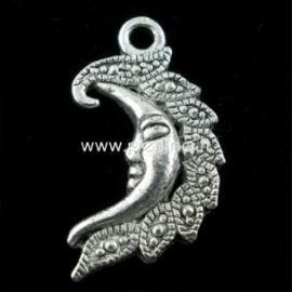 """Pakabukas """"Mėnulis"""", ant. sidabro sp., 27x15 mm"""