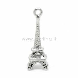 """3D pakabukas """"Eifelio bokštas"""", sidabro sp., 24x8 mm"""