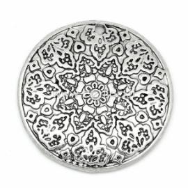 """Pakabukas """"Gėlė apskritime"""", ant. sidabro sp., 28 mm"""