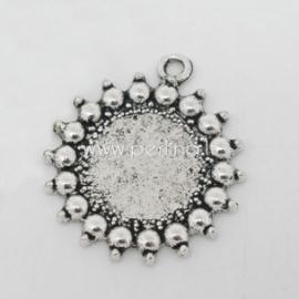 Pakabukas - rėmelis, ant.sidabro sp., 27x24 mm