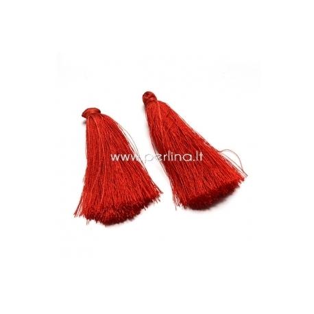 Medvilninis kutas, raudona sp., 80x8 mm