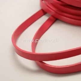 Real leather jewelry cord, red, 10x2,5 mm, 50 cm
