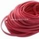 Natūralios odos dirželis, raudonos sp., 10x2,5 mm, 50 cm
