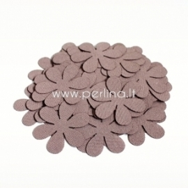Fabric flower, cocoa, 1 pc, select size