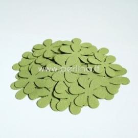 Medžiaginė gėlytė, šv.žalia sp., 1 vnt., dydis pasirenkamas
